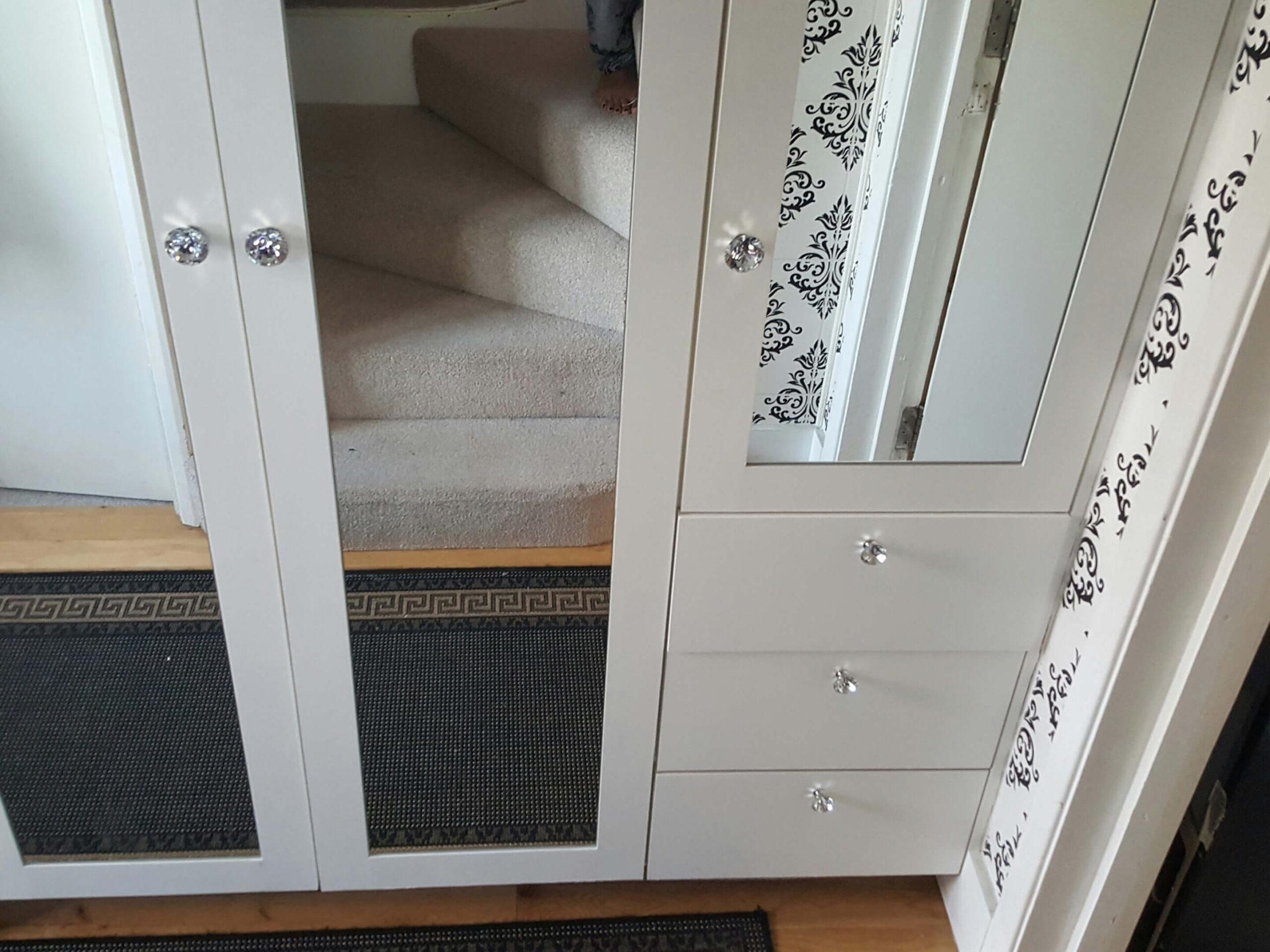 Built in halfway cupboards 1