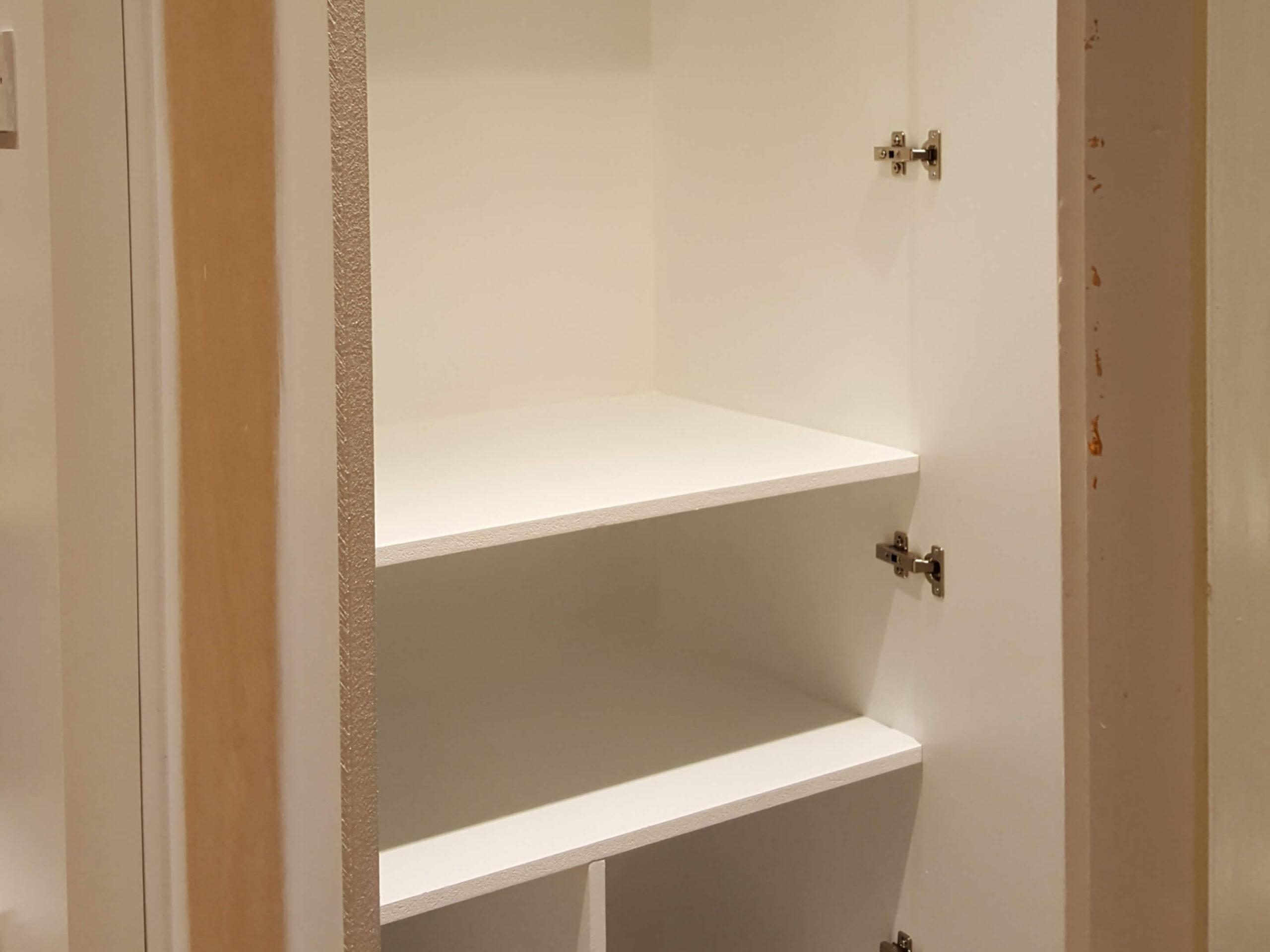 Built in halfway cupboards 5