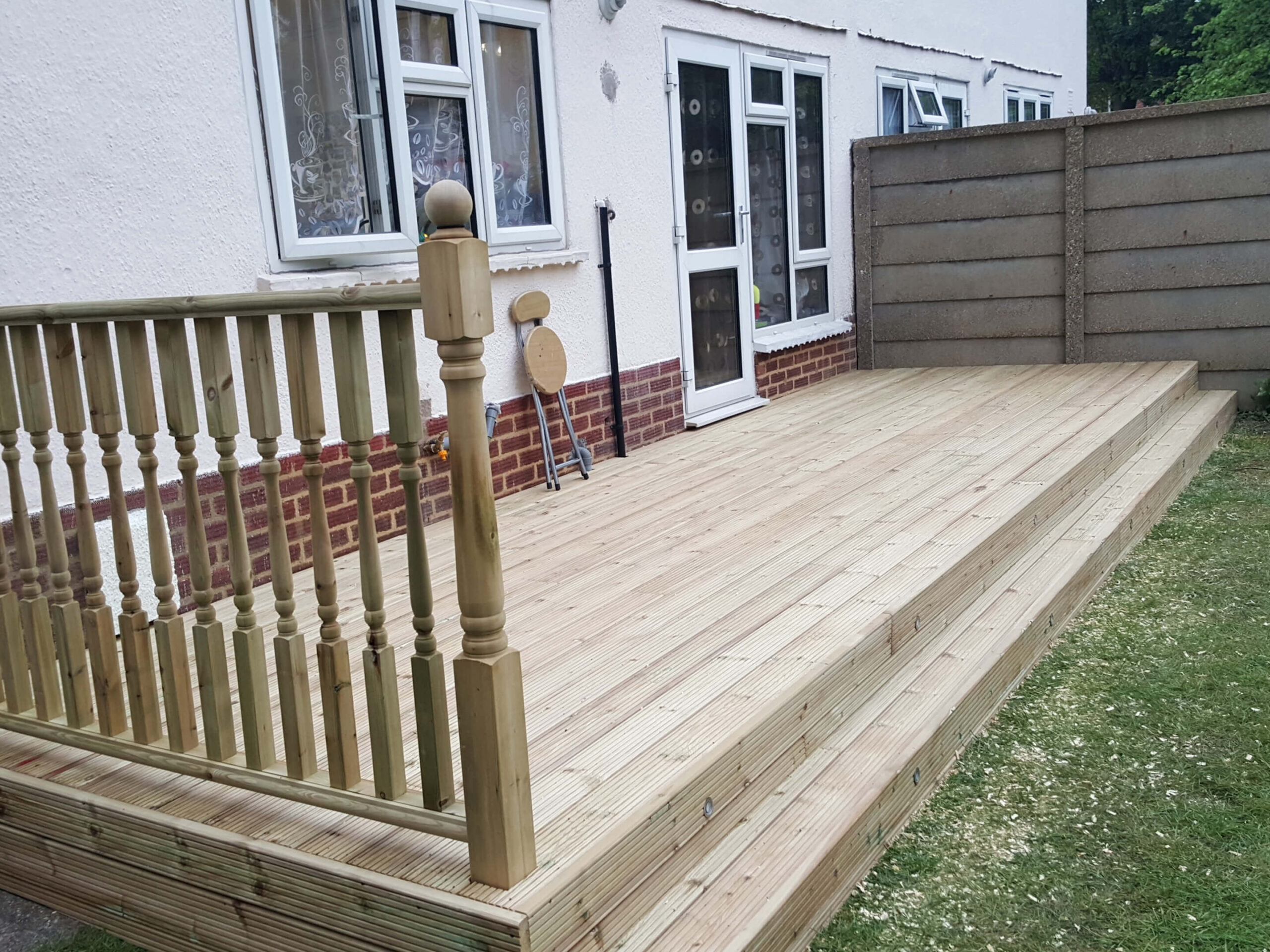 Decking with lights 1