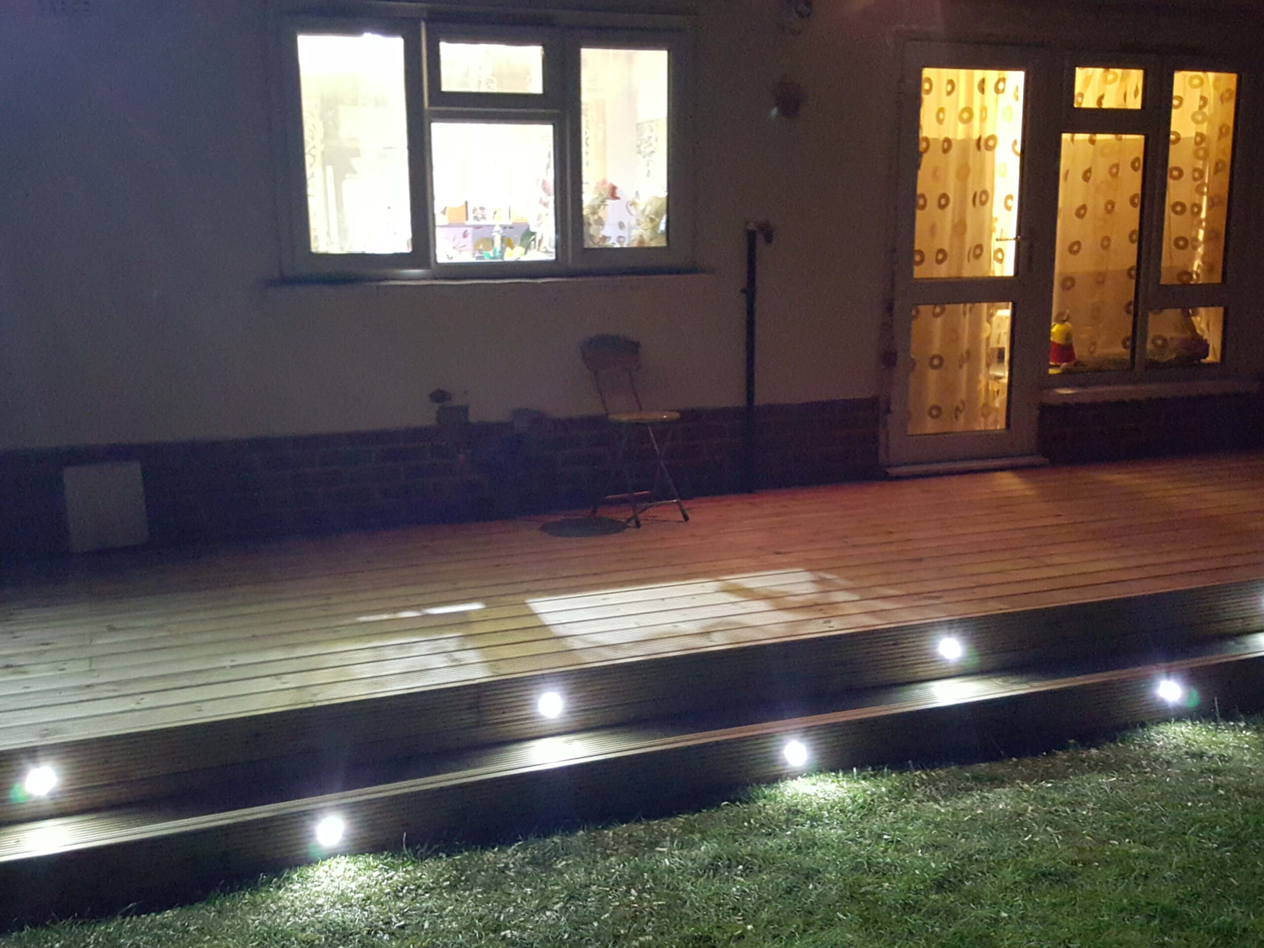 Decking with lights 2