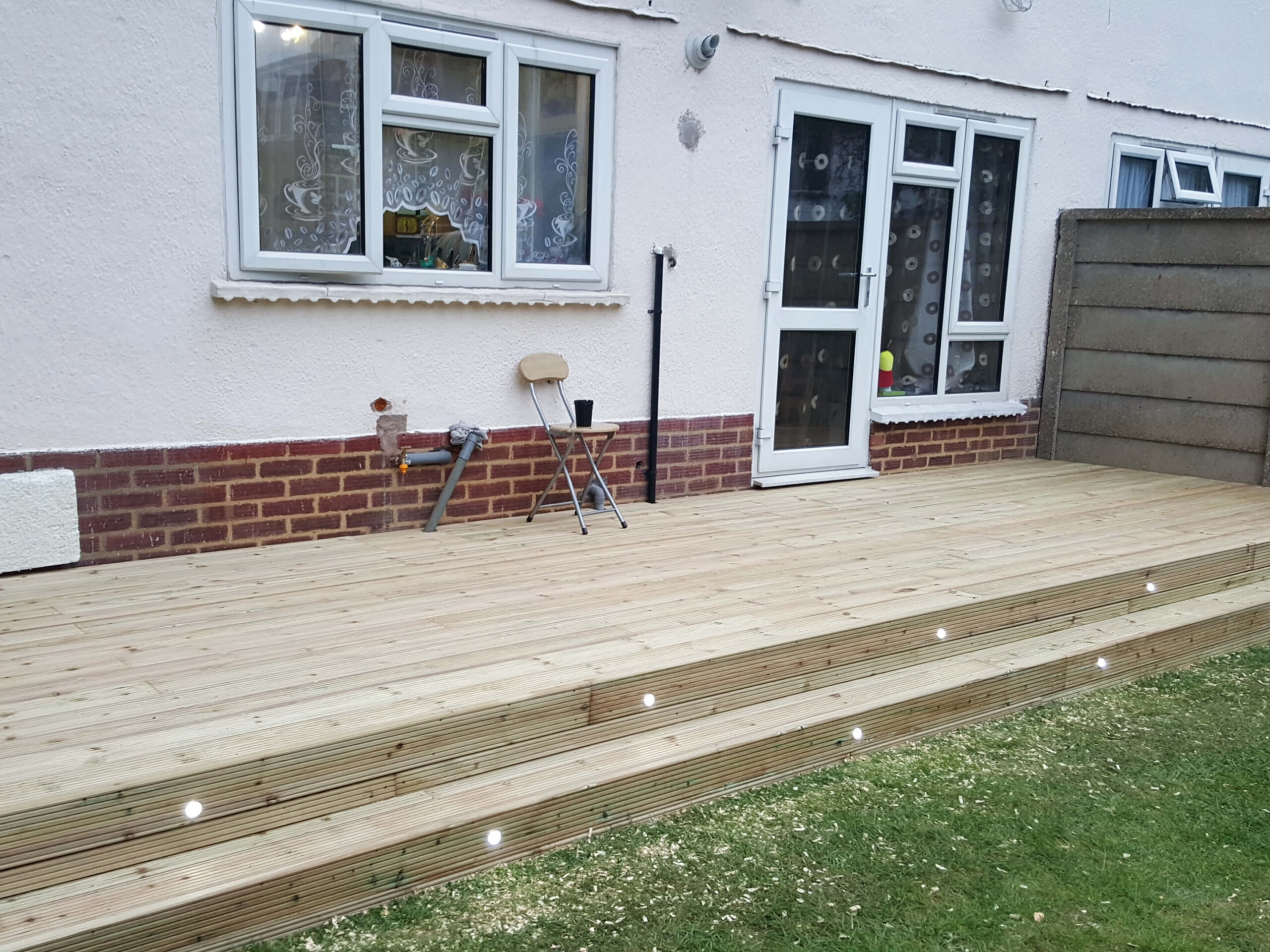 Decking with lights 3